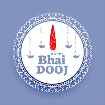 Indian happy bhaidooj traditional blue background