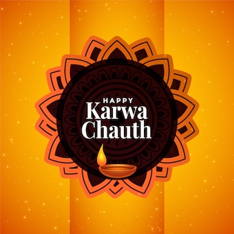 Indian happy karwa chauth festival beautiful