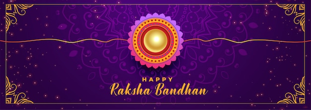 Indian happy raksha bandhan festival banner