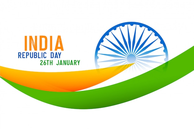 Indian happy republic day holiday background