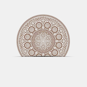 Indian henna mandala - round ornament on paper