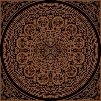 Indian henna mandala - round ornament
