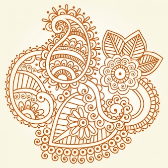 Indian henna ornament