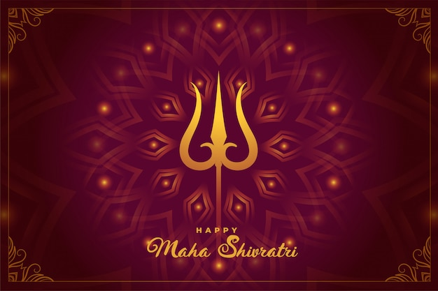 Indian hindu festival of maha shivratri background