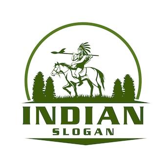Indian hunting logo