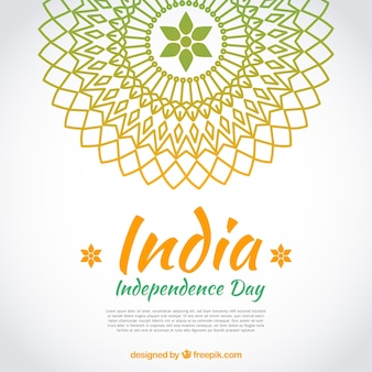 Indian independence day background with mandala