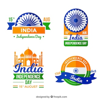 Indian independence day badge collection