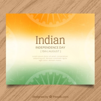 Indian independence day card design