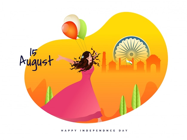 Indian independence day celebration background.