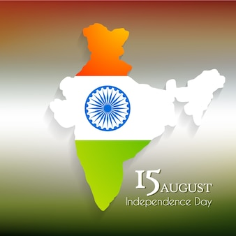 Indian independence day design with map