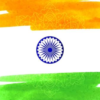 Design bandiera indiana in stile acquerello