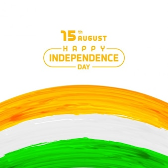 Indian independence day hand painted background