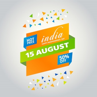 Indian independence day sales design