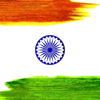 Indian independence day watercolor stroke design