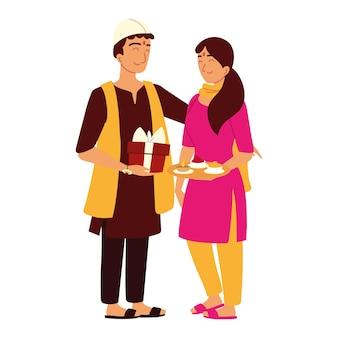 インドの男性と女性