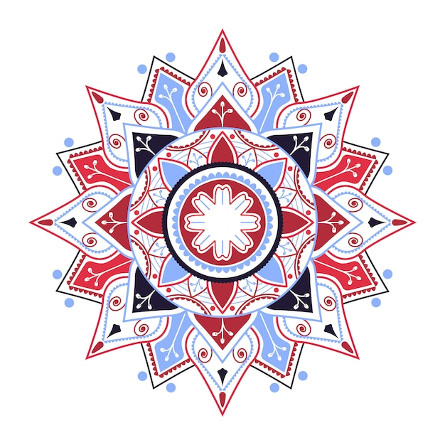 Indian mandala badge
