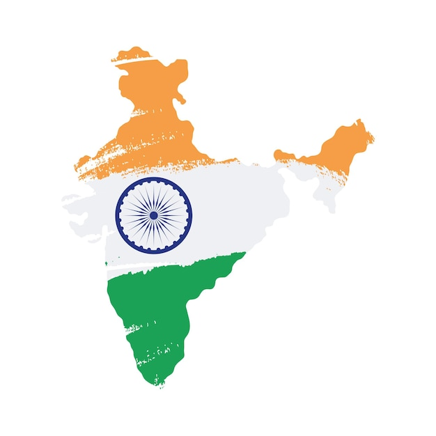 Indian map on white