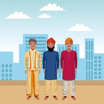 Indian men avatar cartoon character