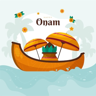 インドのオナムお祝いイラスト