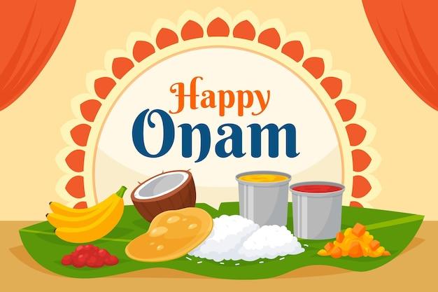 Индийский праздник онам иллюстрация
