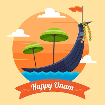 インドのオナムのイラスト