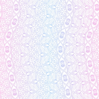 Indian pink and blue seamless pattern