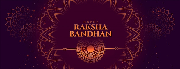 Indian raksha bandhan festival decorative banner