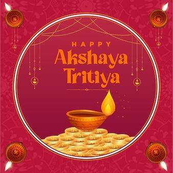 Indian religious festival happy akshaya tritiya template design