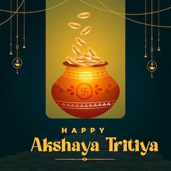 Indian religious festival happy akshaya tritiya template