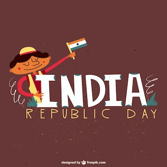 Indian republic day background in illustration style