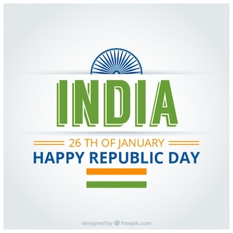 Indian republic day background with green details