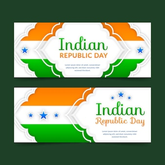 Indian republic day banners template