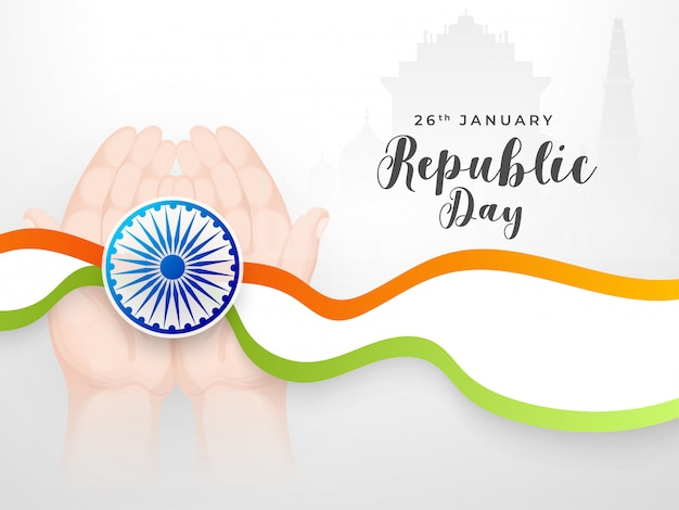 Indian republic day card.
