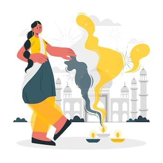 Indian republic dayconcept illustration
