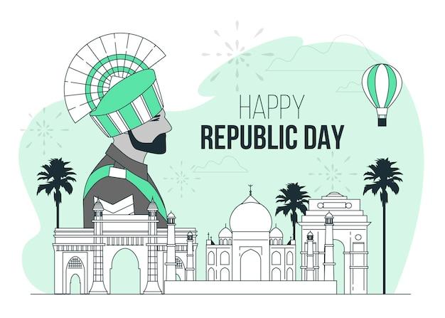 Illustrazione di concetto di giorno della repubblica indiana