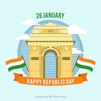 Indian republic day design with india gate