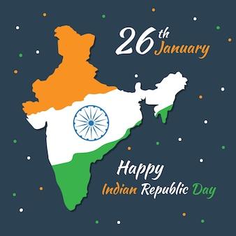 Indian republic day in flat design