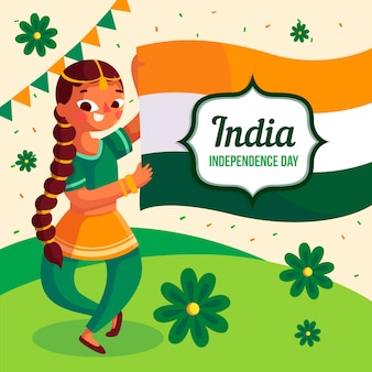 インド共和国記念日フラットデザイン