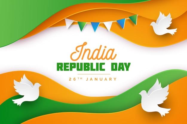 Festa della repubblica indiana in stile carta