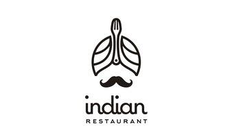 Indian Restaurant logo design inspiration