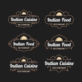 Indian restaurant logo set