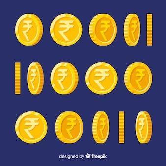 Indian rupee coin set