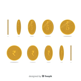 Indian rupee coin set