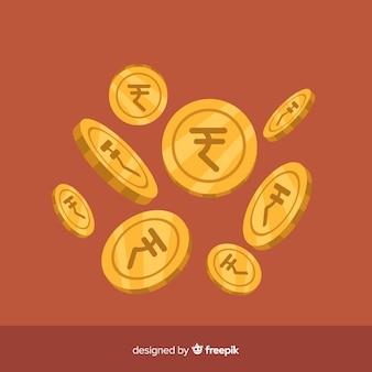 Индийская рупия падает фон