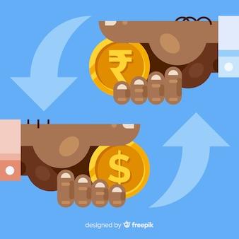Indian rupee currency exchange