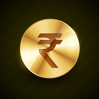 Indian rupee gold coin