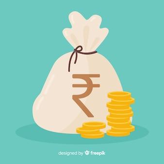 인도 루피 돈 가방