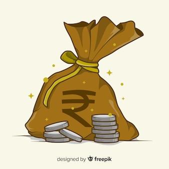 Indian rupee money bag