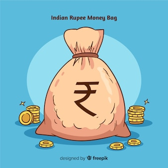 Indian rupee money bag