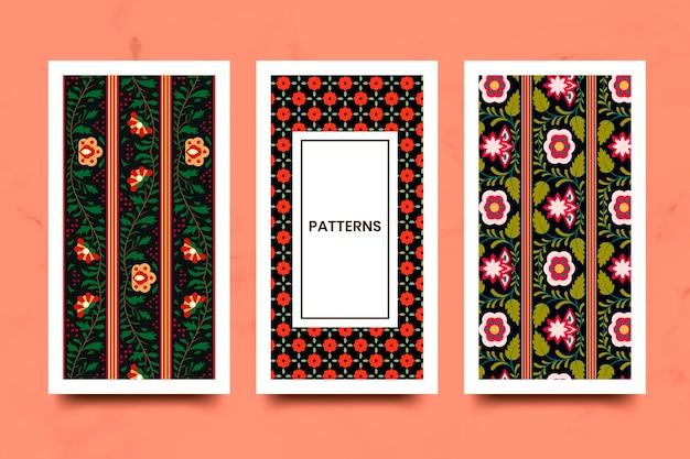 Indian seamless pattern set